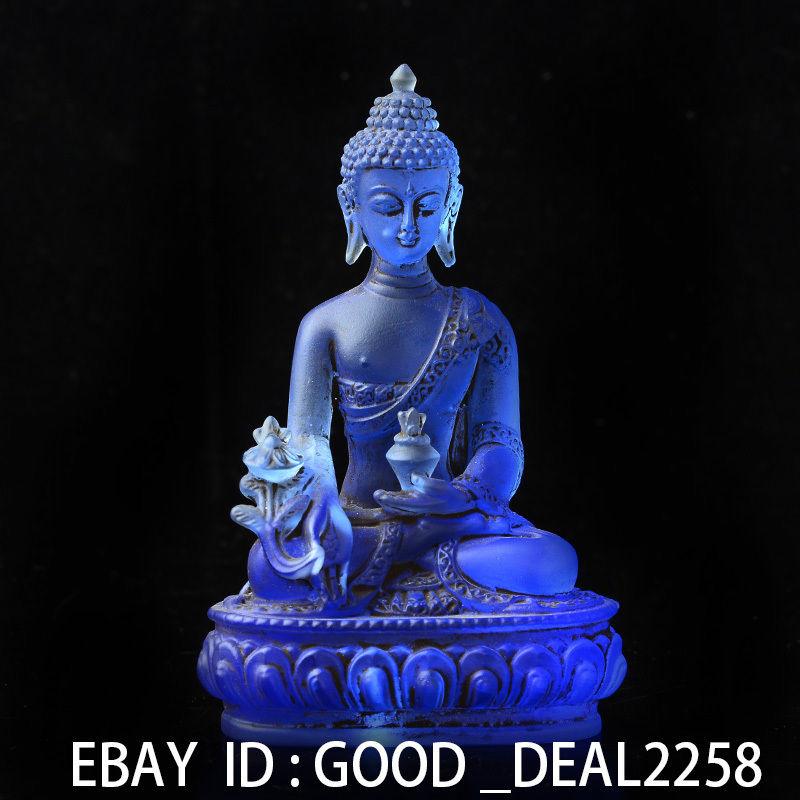 Blue crystal medicine buddha