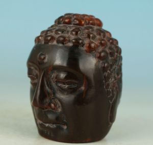 Buddhas Head bead of yak horn