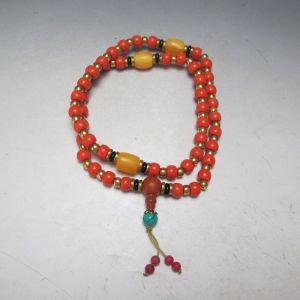 Tibetan Coral mala
