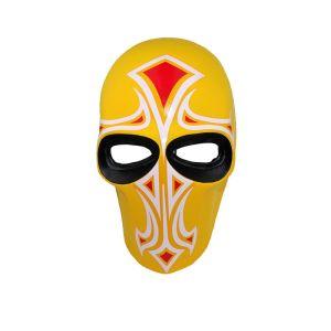 Yellow Fiberglass Tibetan Protest Cross Mask