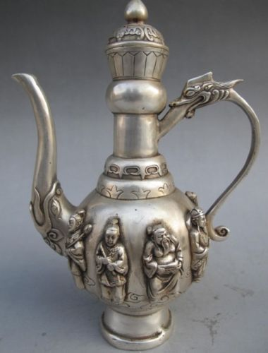 Eight Immortals Tea Pot