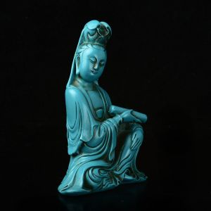 Turquoise Resin Guanyin