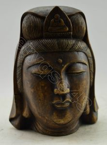 Ancient Alabaster Kwanyin Head