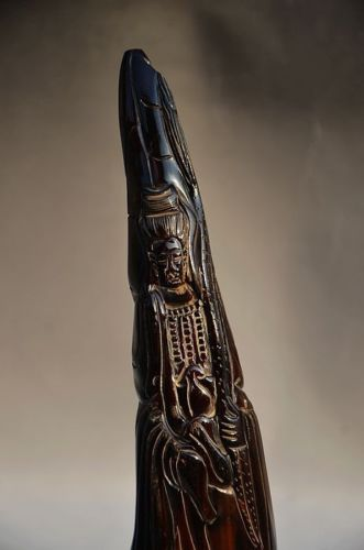 Guanyin in yak or ox horn