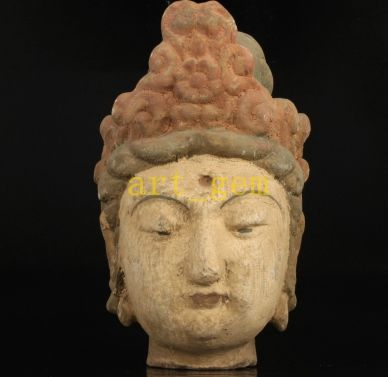 Wooden Kwanyin head