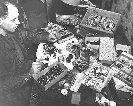 NaziconfiscatedValuablesBuchenwald1945