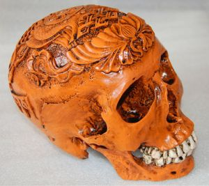 This resin model (I think its resin at least) is of a Tibetan Kapala not