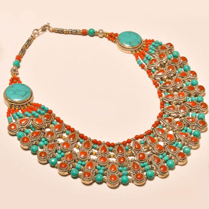 turquoiseandcoralnecklaceaa
