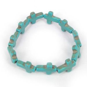 Tibetan Turquoise cross bracelet