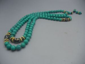 Tibetan Turquoise prayer beads