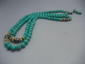 Tibetan Turquoise prayer beads