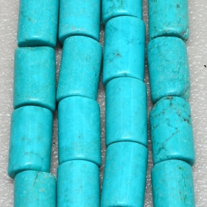 Tibetan Cylinder Turquoise strand