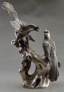 Tibetan Silver Two Birds