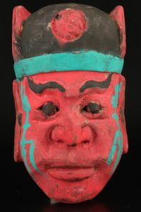 Tibetan Red Man Mask