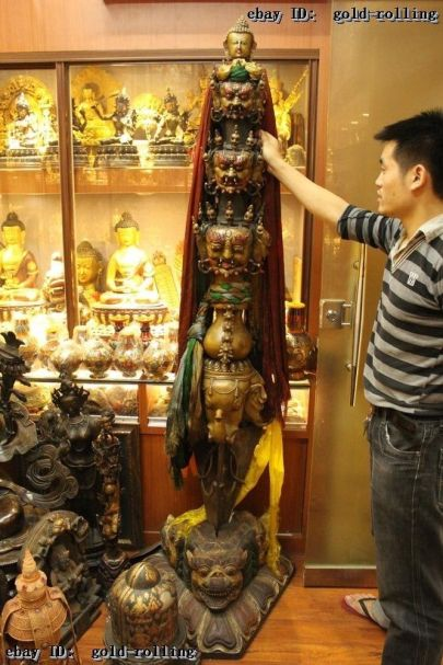 Huge Ritual Tibetan Mahakala phurba